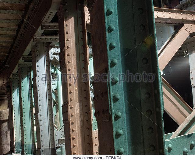 White Metal Pillars : Supporting pillars stock photos
