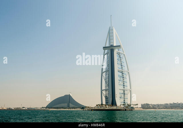 Beach luxurious hotel dubai uae stock photos beach Burj al arab architecture