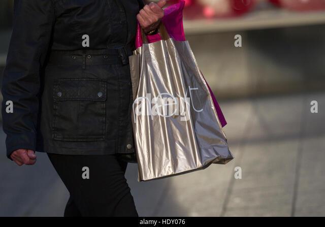 Woman Next Shopping Bag Presents Stock Photos & Woman Next ...