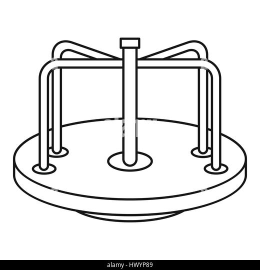 merry go round horse template - merry go round cut out stock images pictures alamy