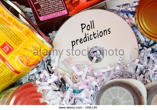 Poll Predictions Data Disc Thrown In Bin Dorset England Stock Image