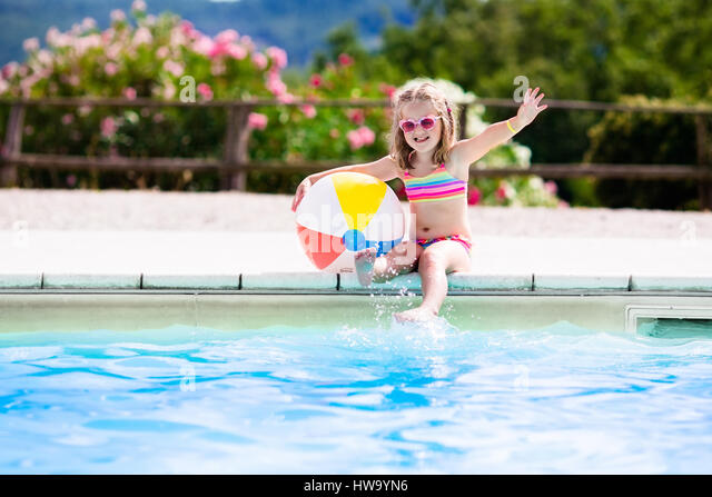 Ball Floating In Swimming Pool Stock Photos Ball