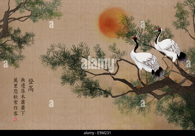 Korean Art Bird Stock Photos & Korean Art Bird Stock ...