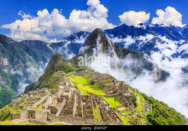 Machu Picchu, Peru. UNESCO World Heritage Site. One of the New Seven Wonders of the World - Stock Image