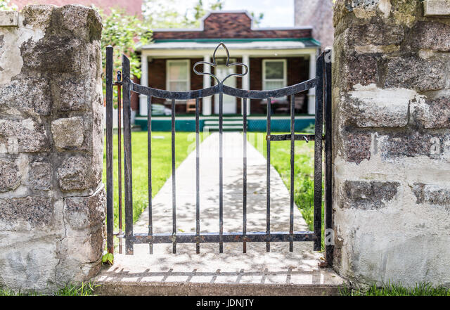 Entrance gate old house in stock photos entrance gate for Entrance to rivet city