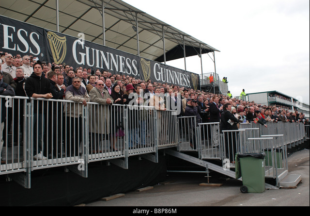 Trade Stands Cheltenham Festival : Racing track with stand stock photos