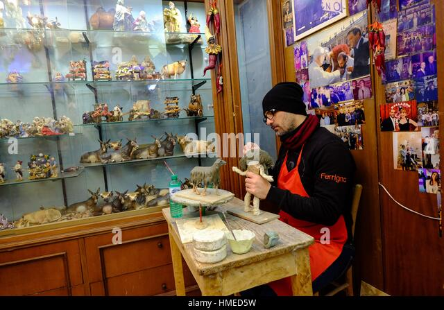 San gregorio armeno street stock photos san gregorio for Craft stores naples fl