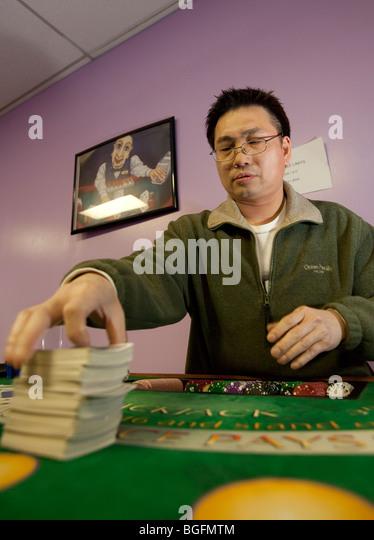 blackjack dealer stock photos blackjack dealer stock