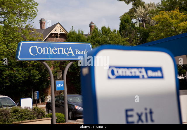 Comerica stock photos & comerica stock images alamy on wiring instructions for comerica bank Comerica Bank Check Information Is On a Branch Comerica Bank Dallas Texas