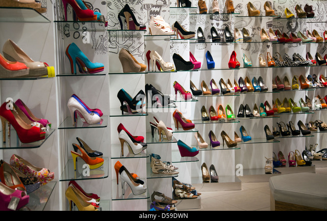 High Heels On Shelves Stock Photos &amp High Heels On Shelves Stock
