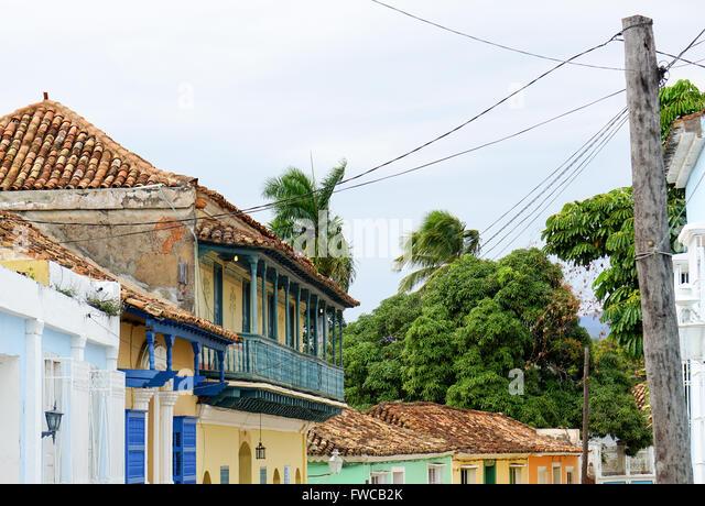 Trinidad cuba architecture stock photos trinidad cuba for Trinidad houses