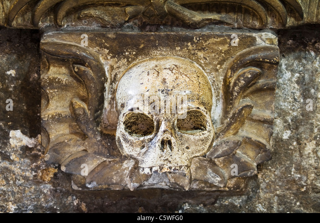 Skull carving carved stock photos