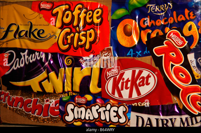 Chocolate Bar Wrappers Stock Photos & Chocolate Bar Wrappers Stock ...