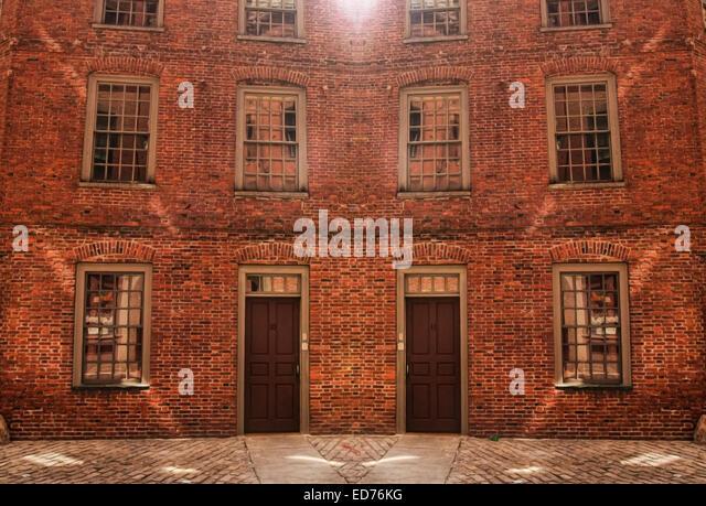 facade brick apartment building in stock photos facade