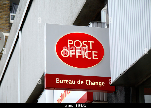Bureau De Change Old Street post office brand stock photos & post office brand stock images - alamy