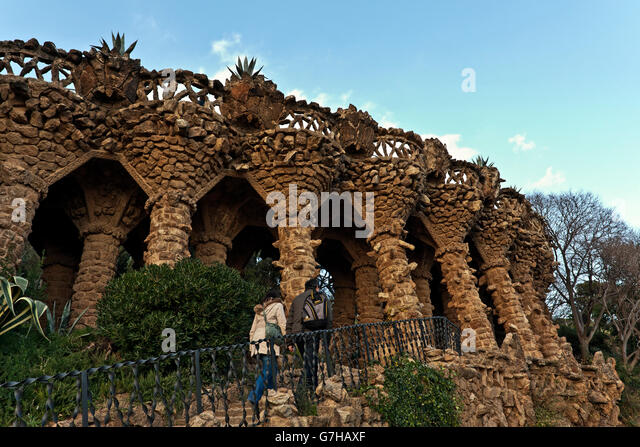 buildings parc guell stock photos buildings parc guell stock images alamy. Black Bedroom Furniture Sets. Home Design Ideas