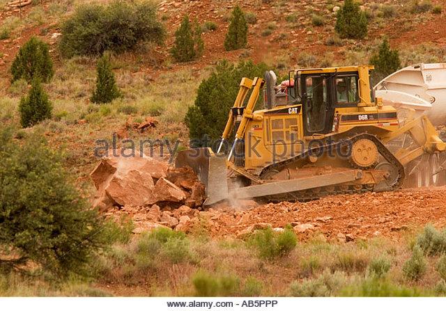Landscape Boulders Orange County Ca : Bull dozer stock photos images alamy
