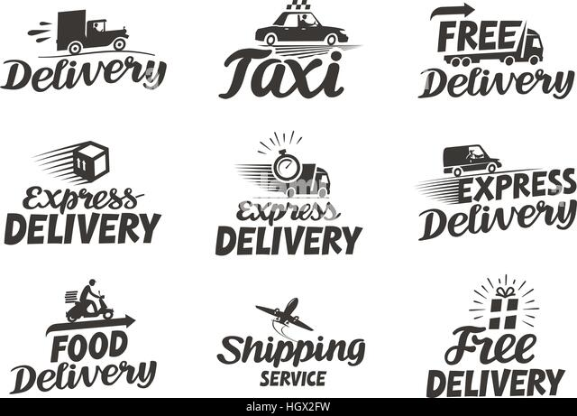 delivery van icon stock vector images