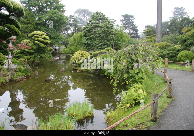 Goldfish koi pond stock photos goldfish koi pond stock for Koi pond japanese tea garden san francisco