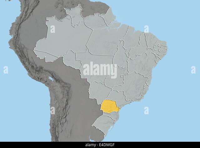 Map Parana Stock Photos Map Parana Stock Images Alamy - World map parana river