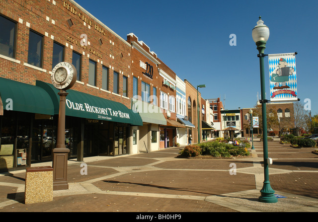 Hickory Nc North Carolina Downtown Pedestrian Street