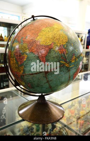 Simulation globe planet earth world stock photos simulation simulation globe with a map of the world stock image gumiabroncs Images