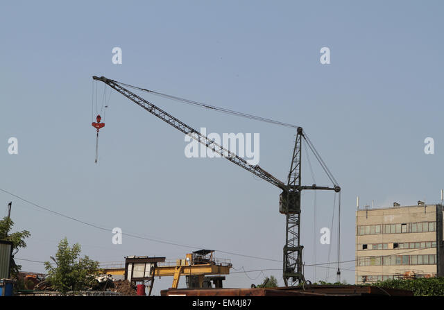Tower Crane Productivity : Tower gantry crane stock photos