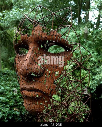 Sculpture Garden. Face   Stock Image