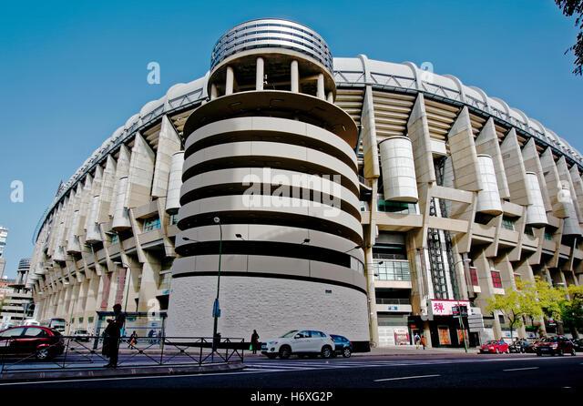 Bernabeu stadium madrid city stock photos bernabeu for Puerta 6 santiago bernabeu