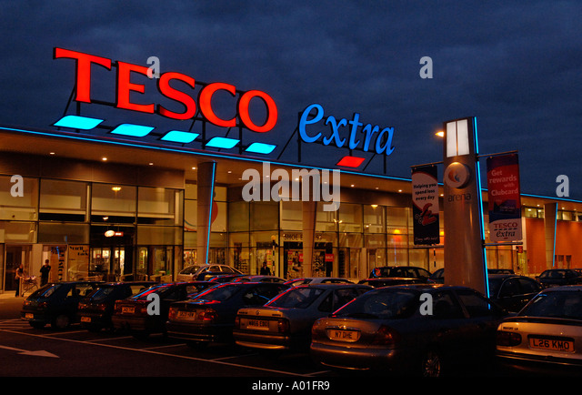 tesco shop store supermarket hours stock photos tesco. Black Bedroom Furniture Sets. Home Design Ideas