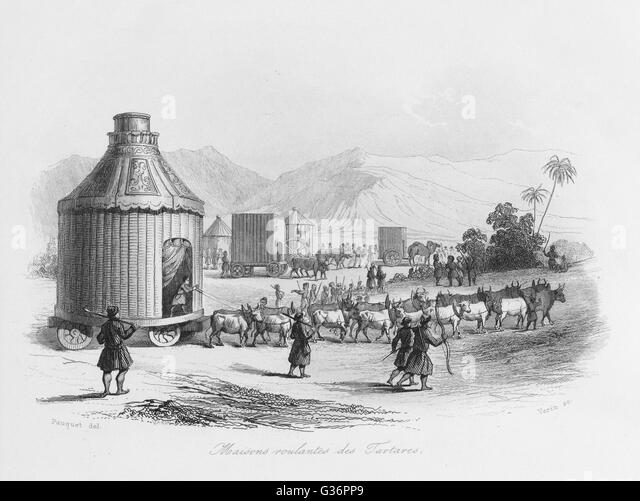 wheeled-tents-of-the-tartars-or-tatars-a