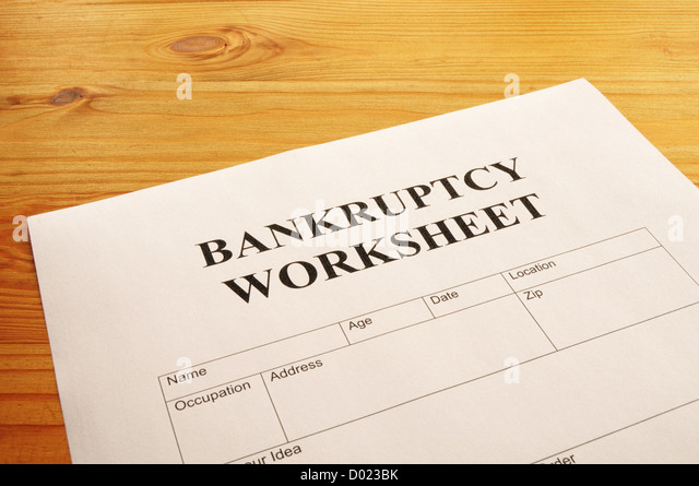 Printables Bankruptcy Worksheet bankruptcy worksheet woodleyshailene form document showing stock photos