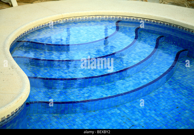 Pool stairs stock photos pool stairs stock images alamy - Domestic swimming pools ...