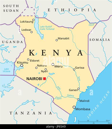 Kenya Map Stock Photos Kenya Map Stock Images Alamy - Kenya map