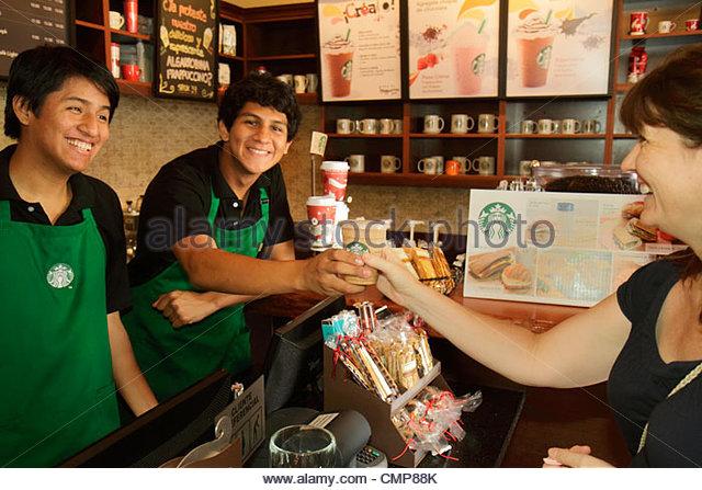Starbucks Coffee Barista Stock Photos Amp Starbucks Coffee