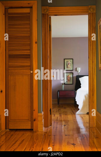 Bedroom on upstairs floor inside stock photos bedroom on upstairs floor inside stock images Hallway to master bedroom