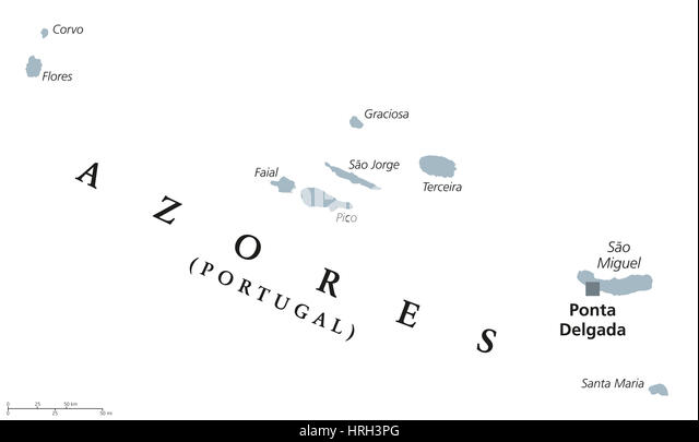 Map Of Azores Islands Stock Photos Map Of Azores Islands Stock - Portugal map azores