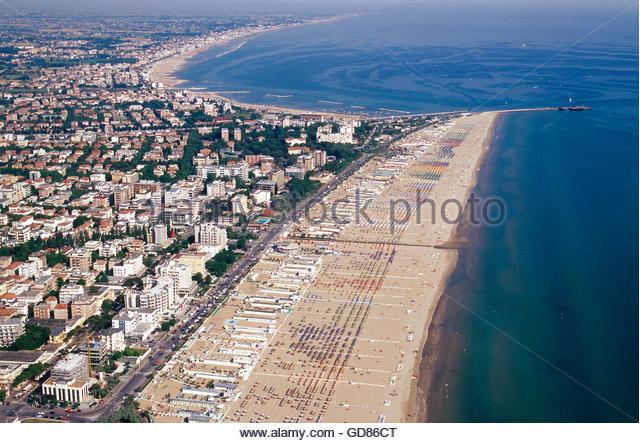 Rimini italy beach stock photos rimini italy beach stock for Bagno 72 rimini