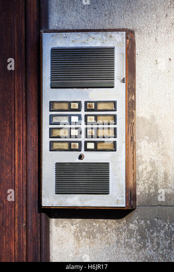Old fashioned microphone stock photos old fashioned for Front door video intercom