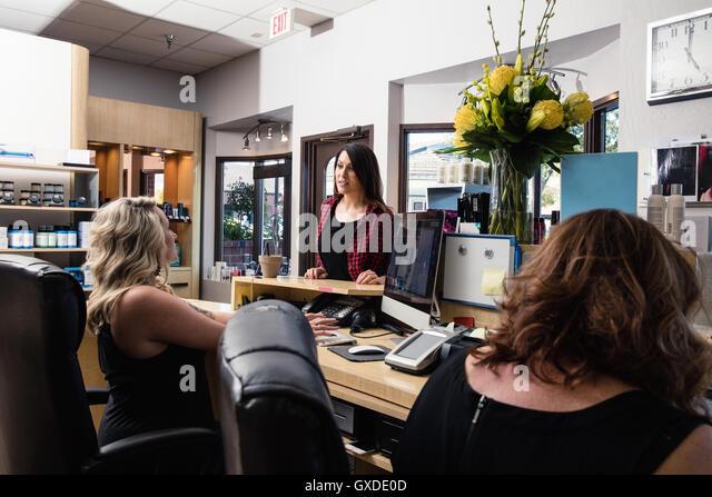Salon Receptionist Stock Photos & Salon Receptionist Stock Images ...