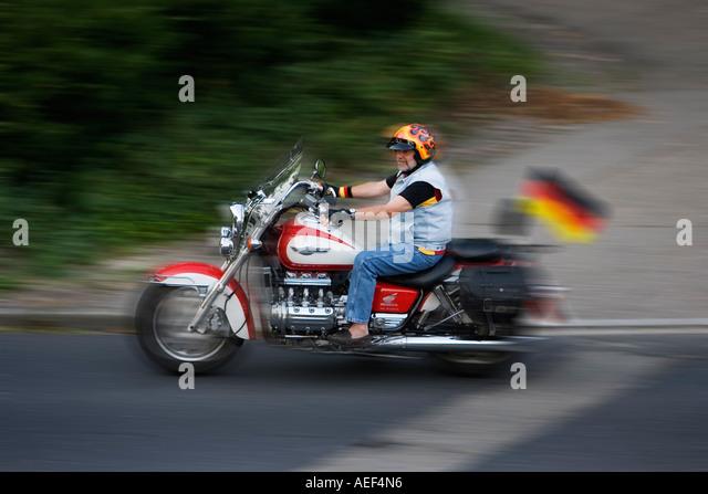 Motorcyclist Germany Road German Stock Photos