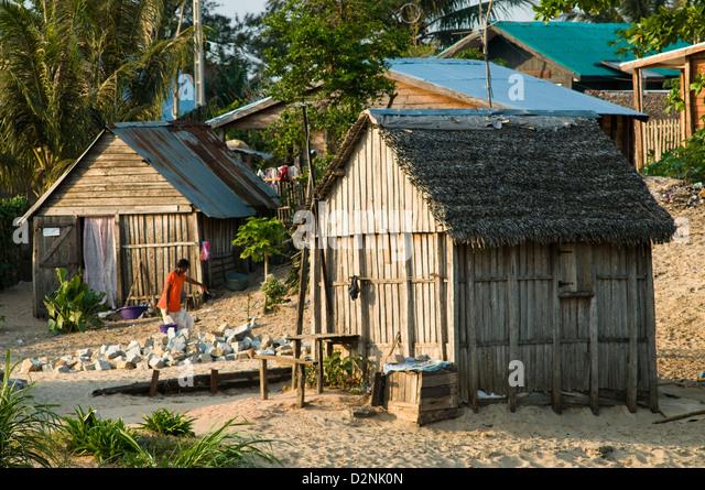 Taolagnaro Madagascar  City pictures : residential scene, fort dauphin taolagnaro , madagascar Stock Image