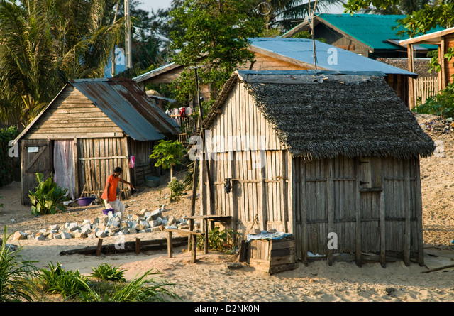 Taolagnaro Madagascar  city pictures gallery : residential scene, fort dauphin taolagnaro , madagascar Stock Image