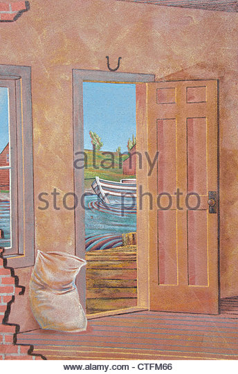Canal museum stock photos canal museum stock images alamy for Exterior wall mural