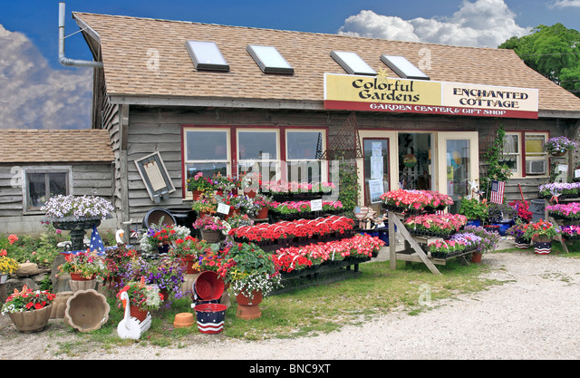 Garden Center North Fork Of Eastern Long Island NY   Stock Image