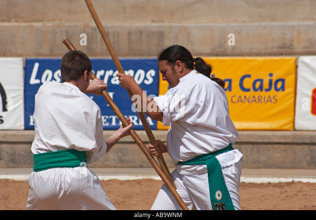 La Lucha del Garrote, Las Palmas Gran Canaria, Canary islands, Spain ...