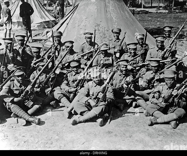 Soldiers Of A West Indian Regiment Western Front WW1