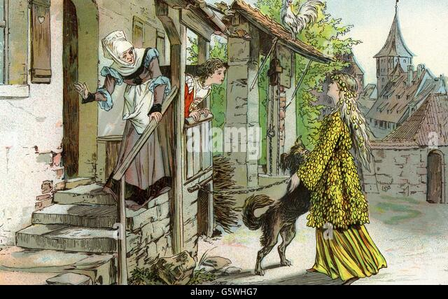 mother hulda fairy tale circa 1895 stock image