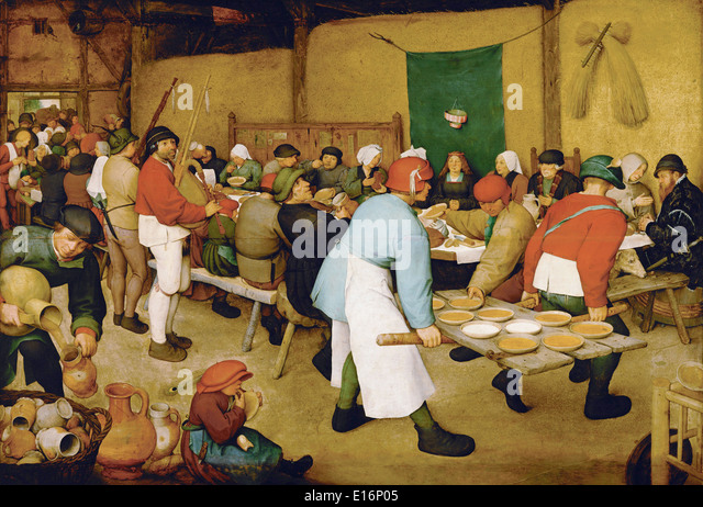 Peasant Wedding By Pieter Bruegel The Elder 1569