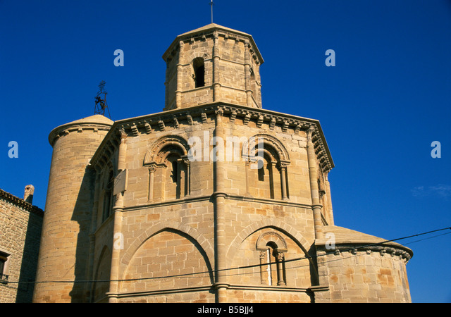 Romanesque church of the Holy Sepulchre dating from the   th century Torres del Rio Camino Navarre Alamy